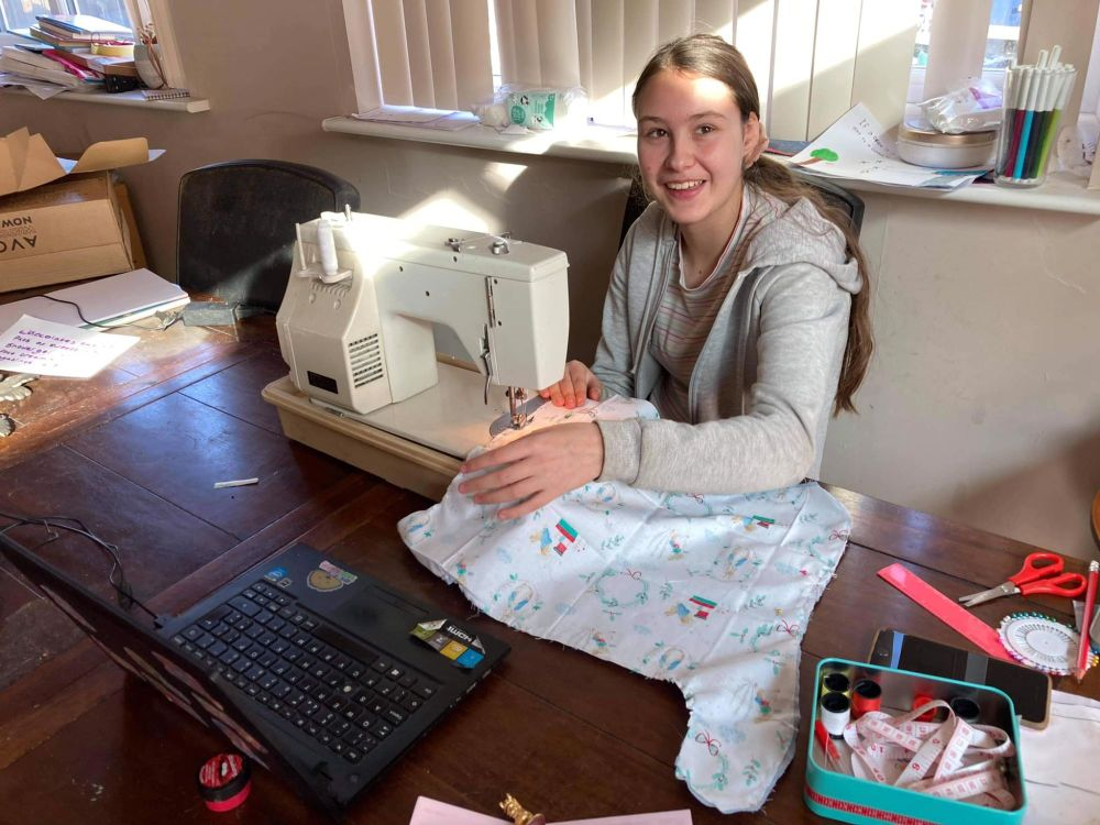 Half Term Childrens Sewalong Online Zoom Group Sewing Lesson