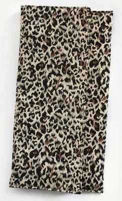Handmade cheetah print oversized clutch