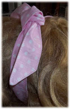Pink Spotty Hair Tie