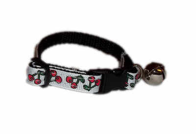 Cherry drop cat collar