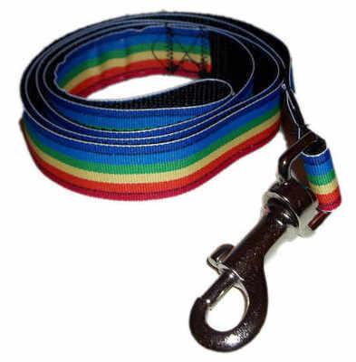 Pride Rainbow Stripe Dog Lead