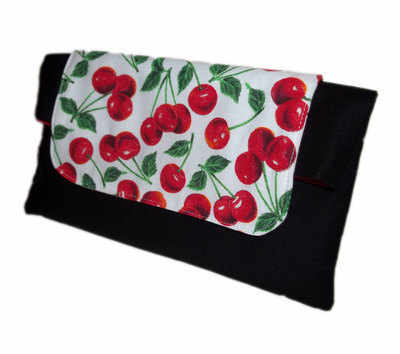 Cherry delight clutch bag
