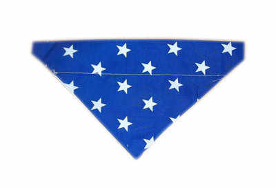 Blue star print dog bandana