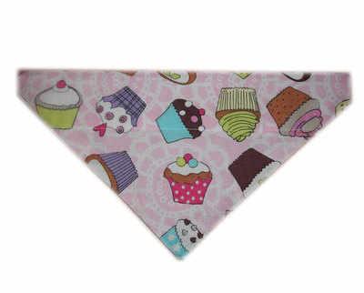 Pink cupcake dog bandana