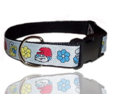 Smurf Themed Dog Collar
