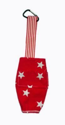 Red And White Star Poop Bag Holder