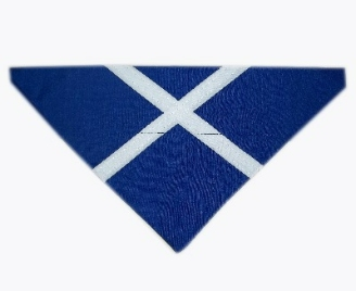 Scottish St Andrews Cross Dog Bandana