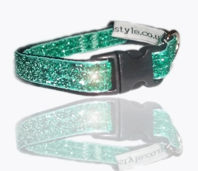 wicked witch emerald green glitter ribbon dog collar