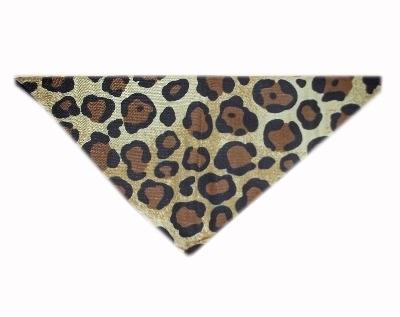 Leopard Print Bedrock Flintstone Cat Bandana