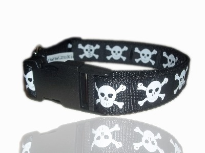 Ship Mate Skull And Crossbone Dog Collar