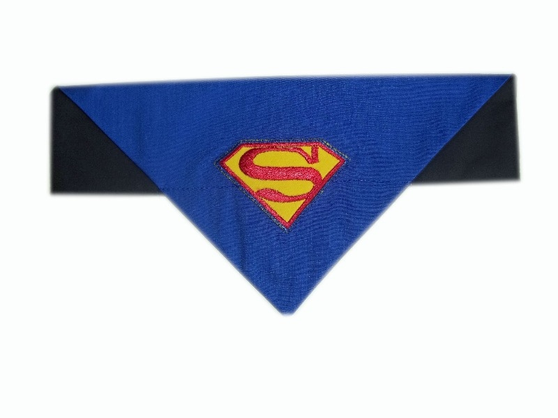 super-pup-superman-dog and cat bandana