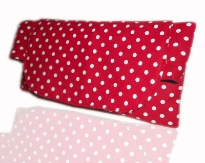 Red And White Polka Dot Clutch Bag