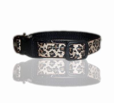 leopard cheetah print cat collar