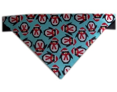 Percy Penguin Blue Christmas Dog And Cat Bandana