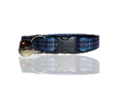 Spirit Of Scotland Blue And Purple Tartan Cat Collar