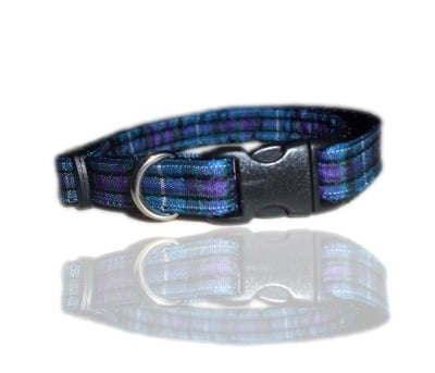 Spirit Of Scotland Blue And Purple Tartan Small Dog Puppy Collar