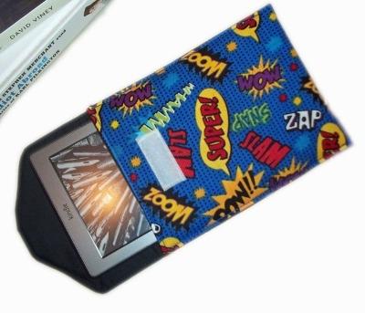 Comic Print Pow Superhero Velcro Fasten Kindle Case
