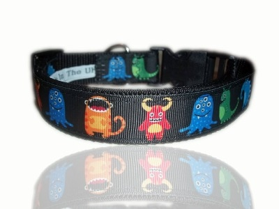 Multi Monster Madness Adjustable Dog Collar