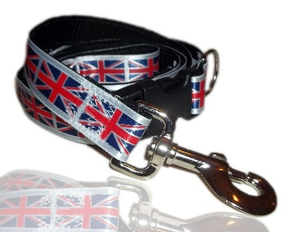 British Pride Union Jack Olympic Jubilee Themed Dog Collar And Lead Set