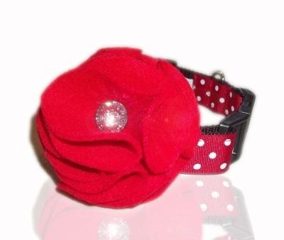 Poppy Red Swarovski Collar Flower