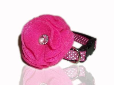 Bright Pink Swarovski Collar Flower