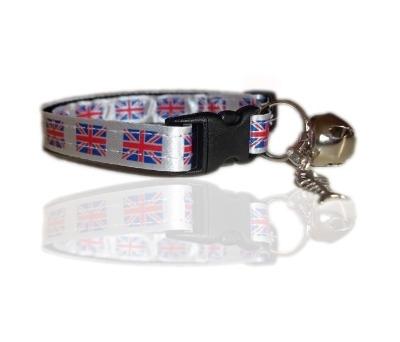 UK British Union Charm Cat Collar