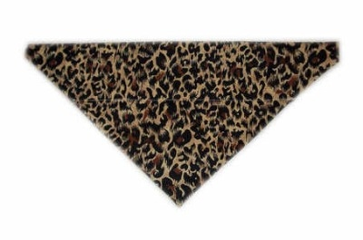 Leopard print dog bandana