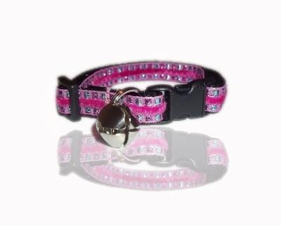 Pink Aztec Jewel Cat Collar