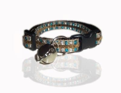 Blue Aztec Jewel Cat Collar