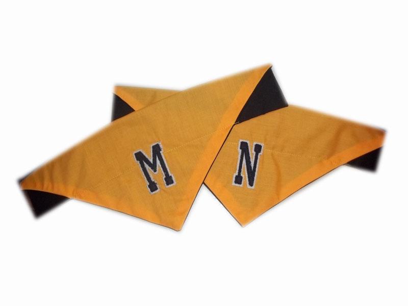 yellow varsity dog bandanas