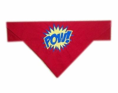Pow Superhero Action Bubble Dog Bandana
