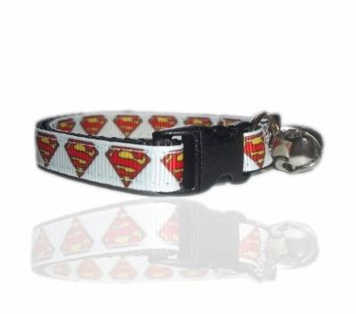 Superman Superhero Cat Collar