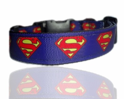 Blue Superman Superpup Dog Collar