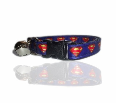 Blue Superman Superhero Cat Collar