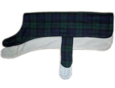 Black Watch Green And Blue Tartan Wool Walking Dog Coat