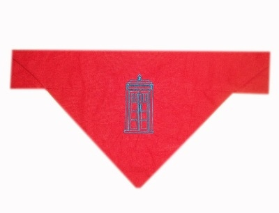 Dr Who Themed Tardis Dog Bandana