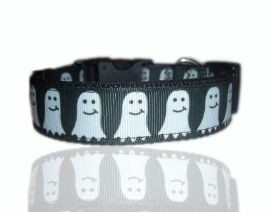 Boo Halloween Ghost Dog Collar