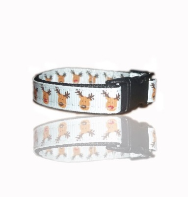 Rudolph Red Nose Reindeer Small Dog Puppy Collar