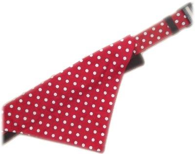 Red And White Polka Dot Bandana And Collar Set