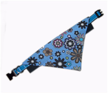 Daisy Doo Bandana And Collar Set Blue