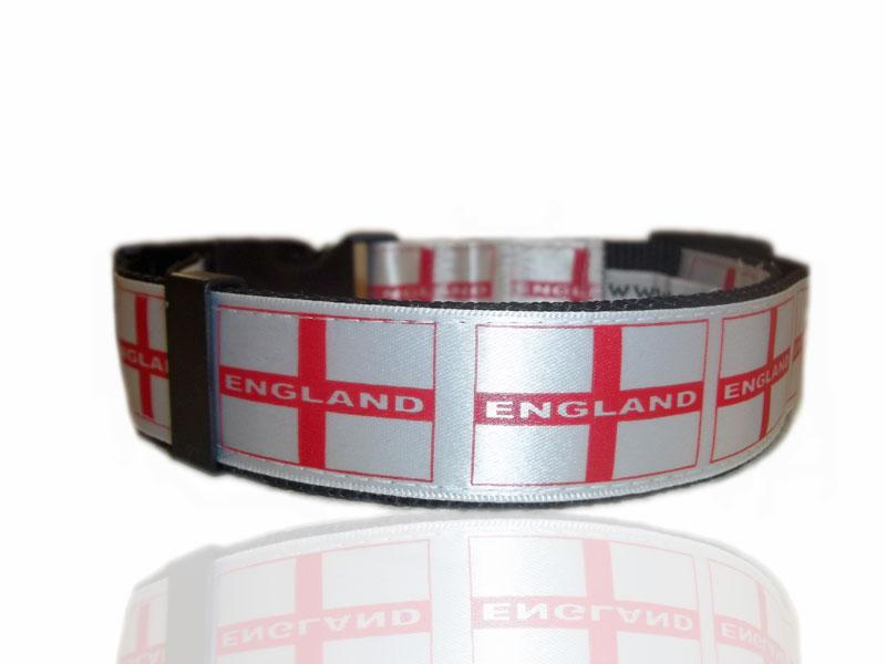 England St George Adjustable Dog Collar