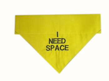 I Need Space Yellow Dog Bandanas