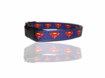 Blue Superman Superpup Small Dog Puppy Collar