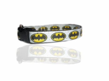 Batman Pawed Crusader Small Dog Puppy Collar Yellow