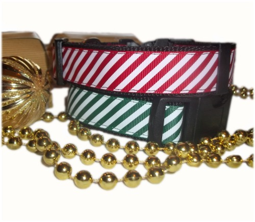 Candy Cane Sweet Christmas Dog Collar