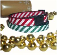 Candy Cane Sweet Stripe Christmas Cat Collar