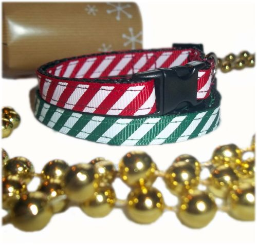 Candy Cane Stripe Sweet Christmas Small Dog Puppy Collar
