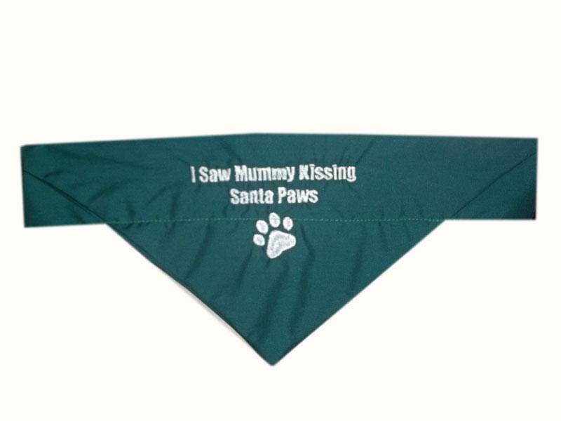 santa-paws-Christmas Embroidered bandana