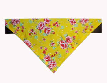Vintage Sunshine Yellow And Pink English Rose Bandana