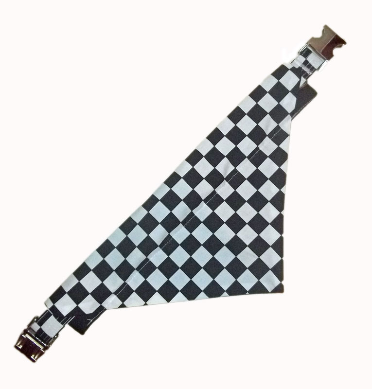 chequered-flag-collar-bandana set